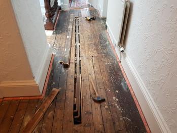 Repairing floor boards