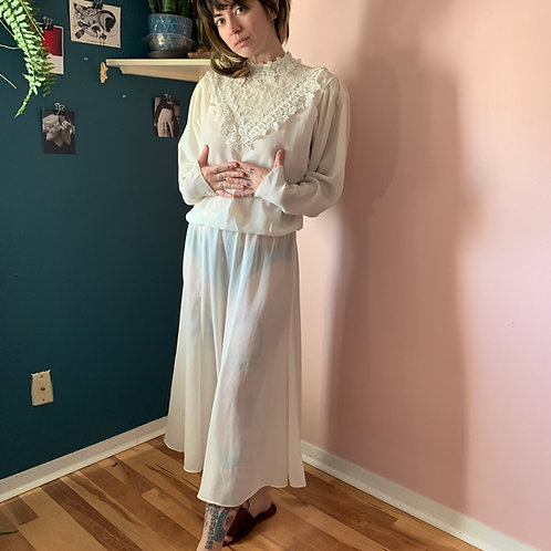 70s prairie wedding dress