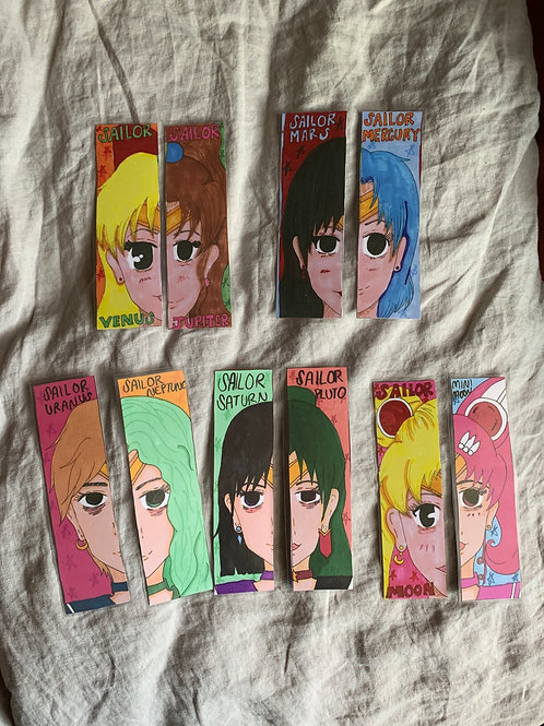 Sailor Moon Bookmarkers