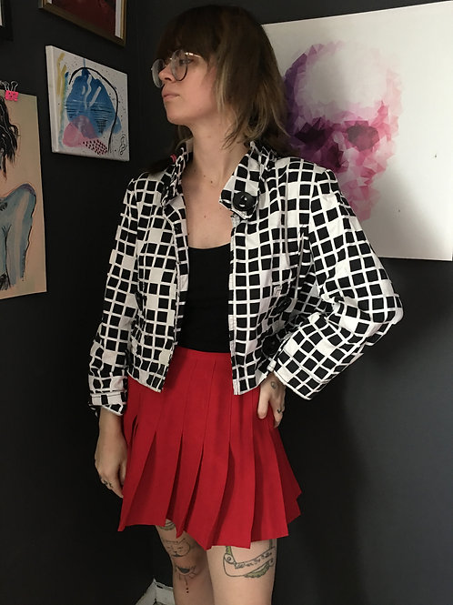 Cropped Black n White Jacket