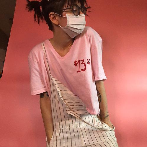Conbini Pink Crop Top Vneck - XLarge