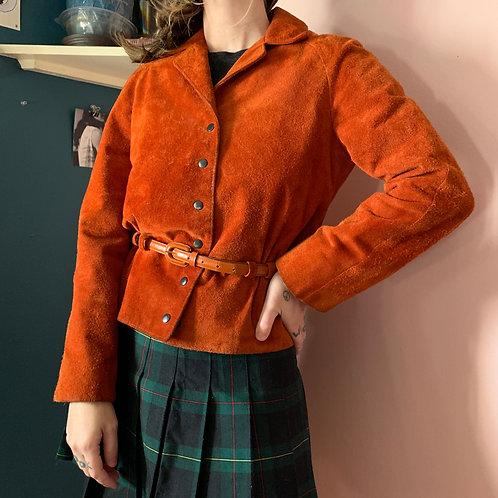 Vintage Leather Anne Klein Cropped Jacket
