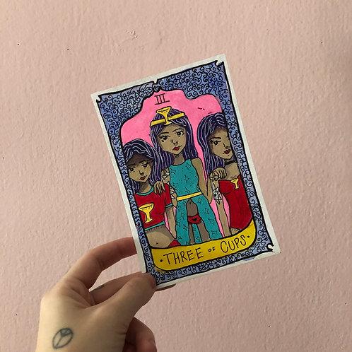 [ORIGINALS] Three of Cups Tarot Card