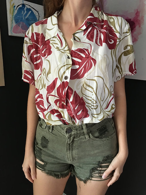 Hawaiian Shirt w/ Leaves