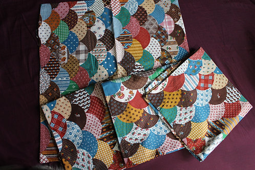 Vintage Quilt Pattern Napkins/Handkerchief (4)