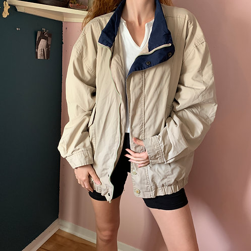 Vintage Fishermans Jacket in tan and blue