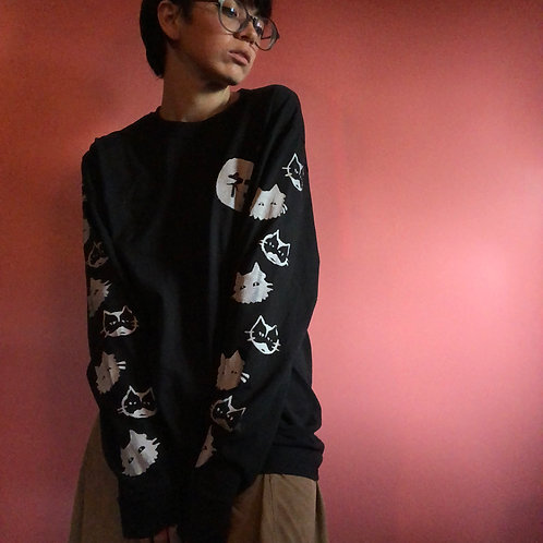 Neko Screenprinted Long Sleeved Shirt