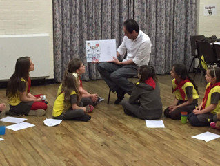 1st Binfield Rainbows and Brownies Author Visit