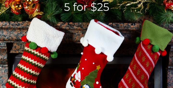 5 for $25 SAMPLER Package!