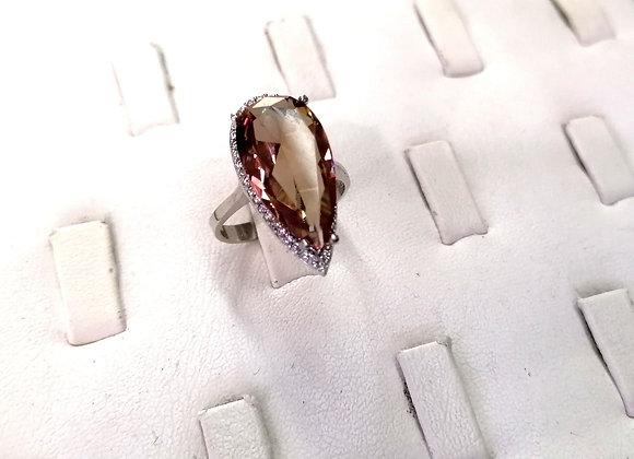Zultanit Taşlı Gümüş Oval