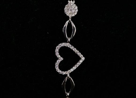 Kalpli Gümüş Bayan Bileklik