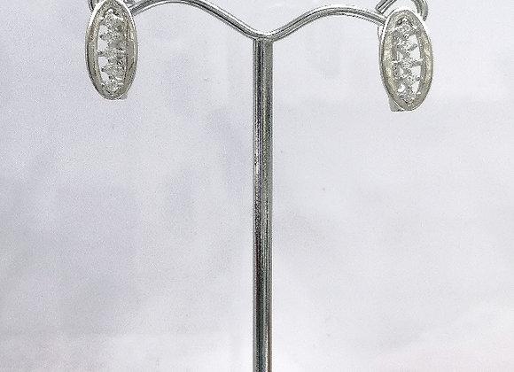 Taşlı J Model Küpe