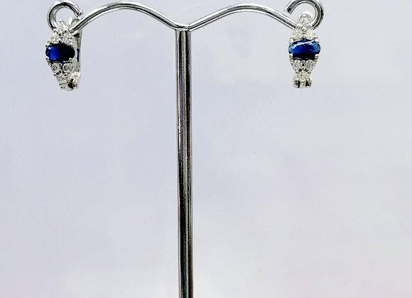 Safir Renkli J Model Küpe
