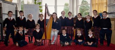 Bristol Harpist - Playing for Sunninghill Prep School Assembley