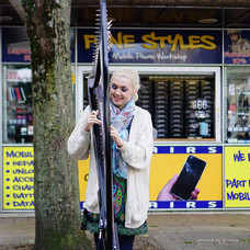 Bristol Harpist - Busking in Broadmead