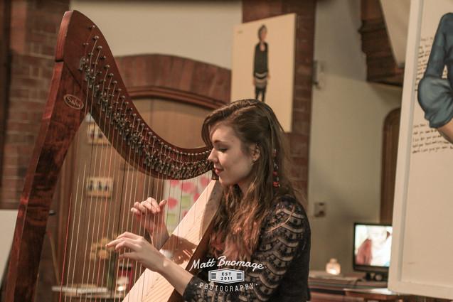 Bristol Harpist - Creative Funerals Event Hampshire
