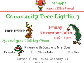 2018 Vernon PAL & Vernon Township Community Tree Lighting - NOVEMBER 30, 2018