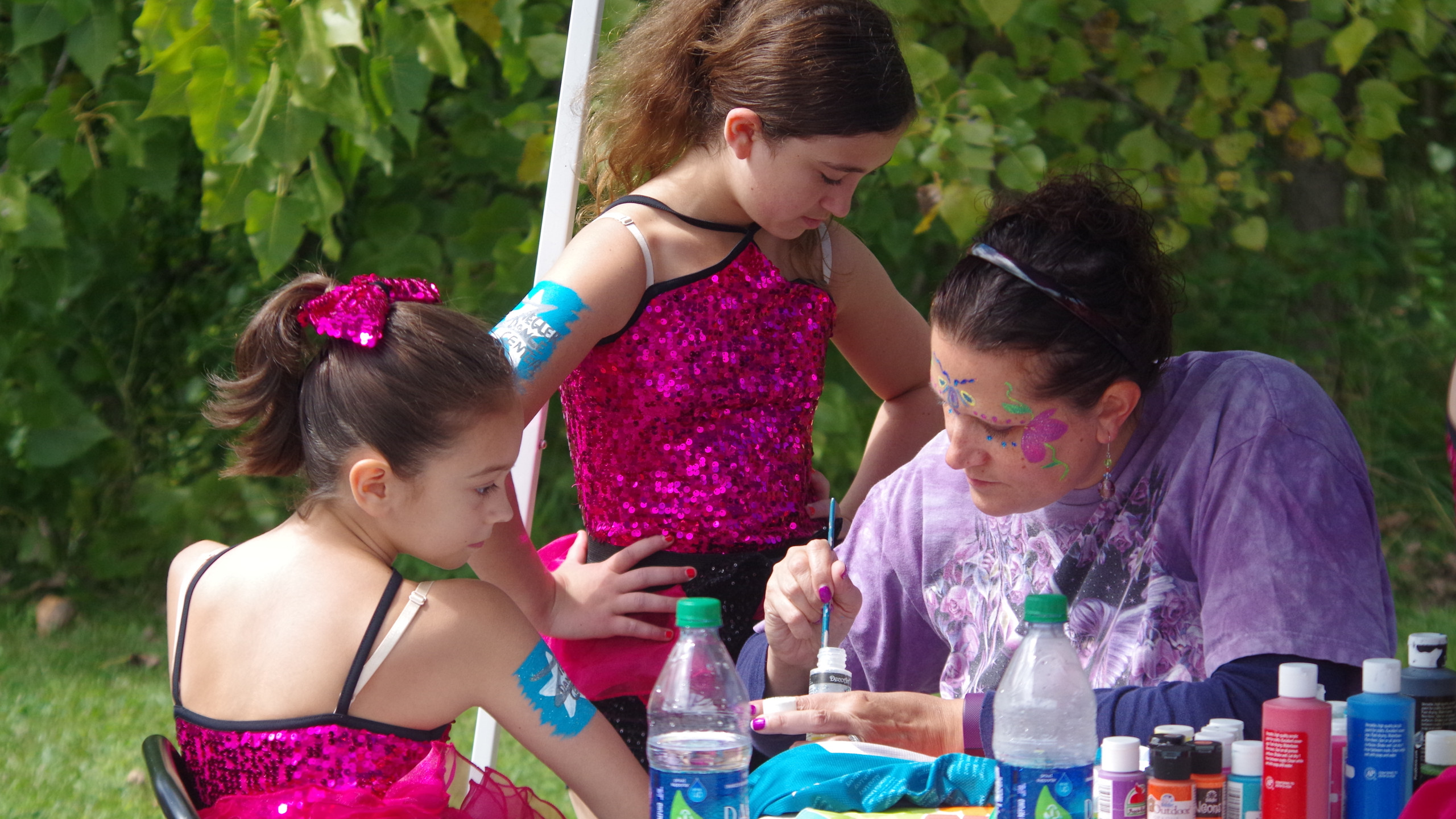 Face painting at VCC Street Fair 2017