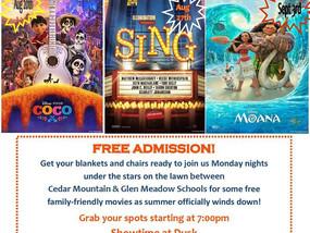 Vernon Township Presents Movie Mondays, August 27, 2018