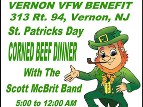 VERNON VFW BENEFIT - Corned Beef Dinner - March 16, 2019