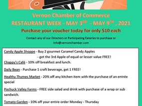 Restaurant Week - May 3rd - May 9th, 2021