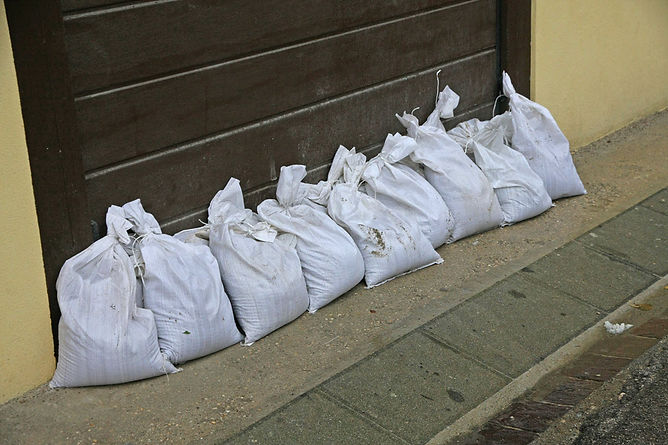 mudslide damage sandbags