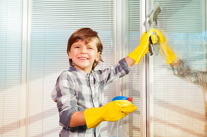 spring cleaning windows