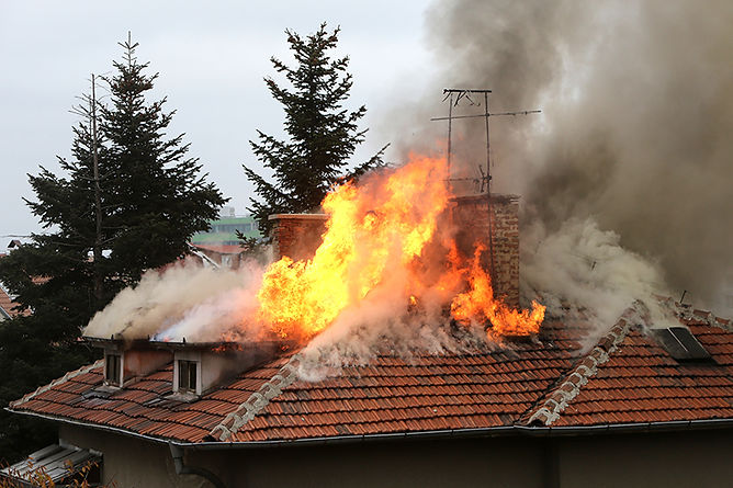 roof on fire, buying a fire damaged home, pros and cons of buying a fire damaged property, buy a house with fire damage, Buy a house with smoke damage