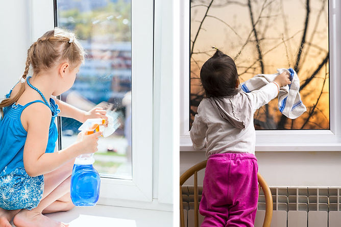 spring cleaning interior windows