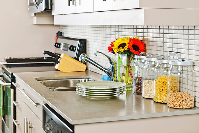 Add Color to Your Kitchen Kitchen Counter