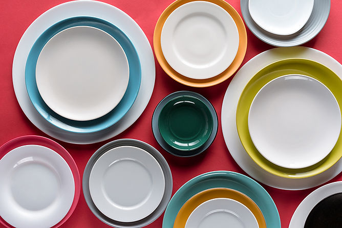 Add Color to Your Kitchen Assorted Colorful Plates