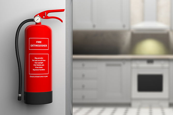 Prevent House Fires Fire Extinguisher In Kitchen, prevent house fires, fire prevention tips, prevent home fires, house fire prevention