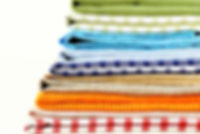 Add Color to Your Kitchen Stack Of Dish Towels