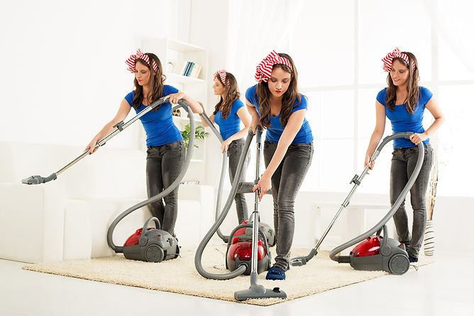 Eliminate Bad Smells In Your Home Woman Vacuuming x4