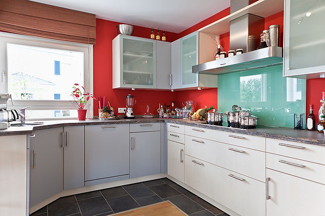 Simple Kitchen Remodel Upgrades Kitchen Red Wall