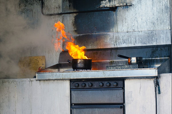 Grease Fire Clean Up Tips, cleaning up after grease fire, grease fire damage, how to clean up after a grease fire, how to put out grease fire, prevent a grease fire