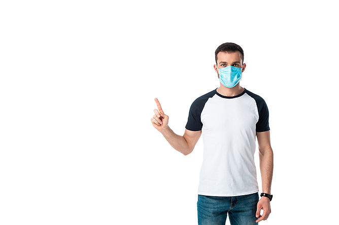 If You Have Mold In Your Home Man Wearing Mask, household mold, professional mold removal, DIY mold removal, mold cleanup, mold remediation