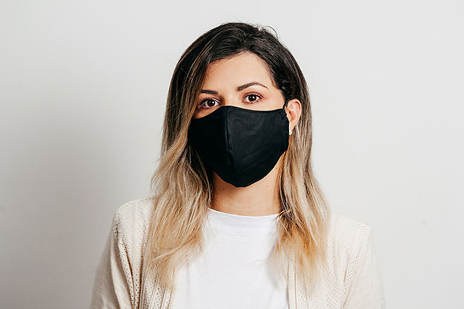 Protect Your Family From Coronavirus Woman Wearing Homemade Mask
