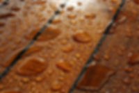 Water Damage Resistant Materials Teak With Water Drops