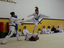 Belt Testing; jump side kick