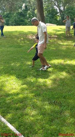 Picnic, 3 legged race, family fun