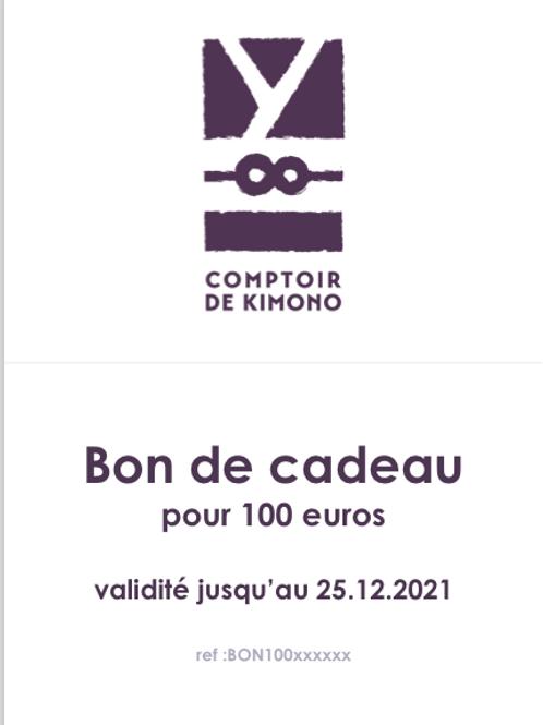 Bon de Cadeau 100 euros