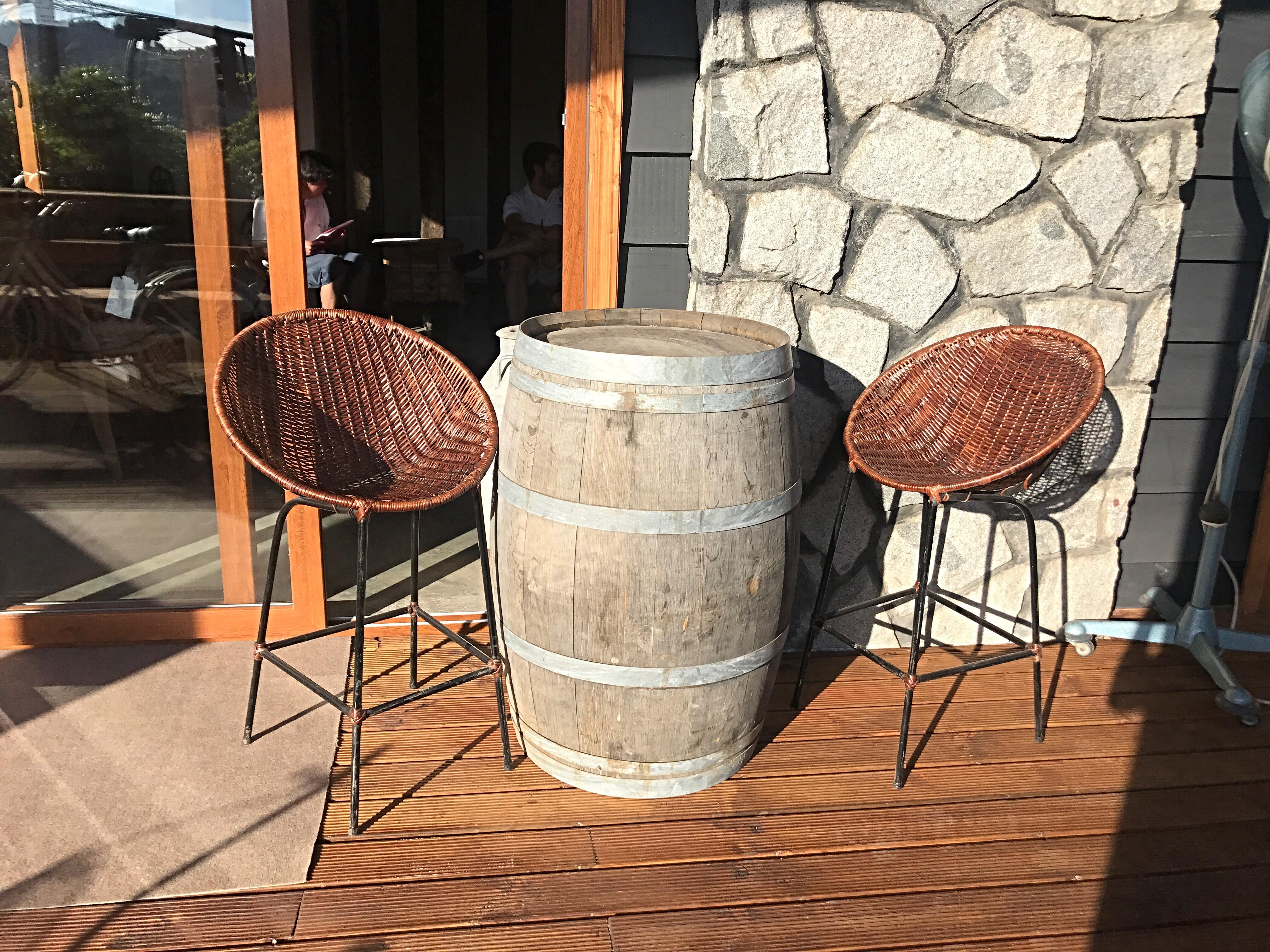barril sillas