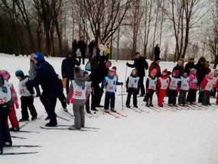 Лыжные гонки среди дошкольников
