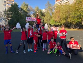 Победа 4:1 в товарищеском матче по футболу со школой «Уна»! Ура!