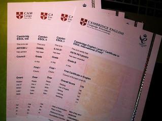 Результаты международных экзаменов по английскому языку 2017 года