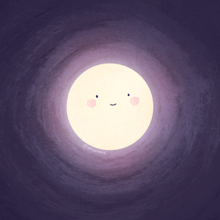 Speckle moon