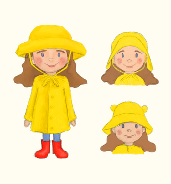 Girl and rainhat designs