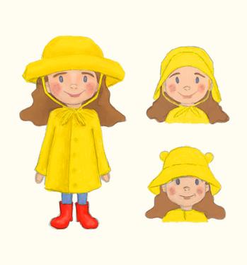 Girl and rainhat designs