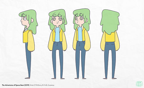 First draft of Beth's turnaround with colour.